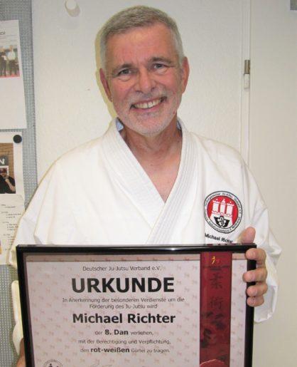 Verleihung 8. DAN für Michael Richter